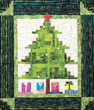 Easy Quilt Pattern Christmas Tree Quilt Pattern